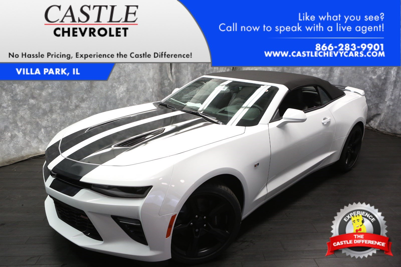 new 2017 chevrolet camaro 2ss convertible in villa park 36736 castle chevrolet. Black Bedroom Furniture Sets. Home Design Ideas