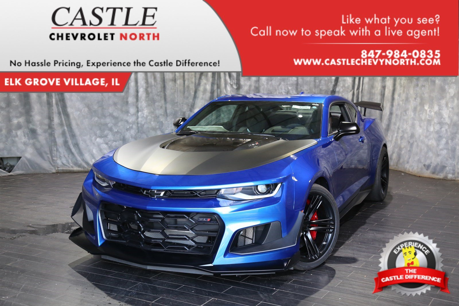 new 2018 chevrolet camaro zl1 2dr car in villa park 63608 castle