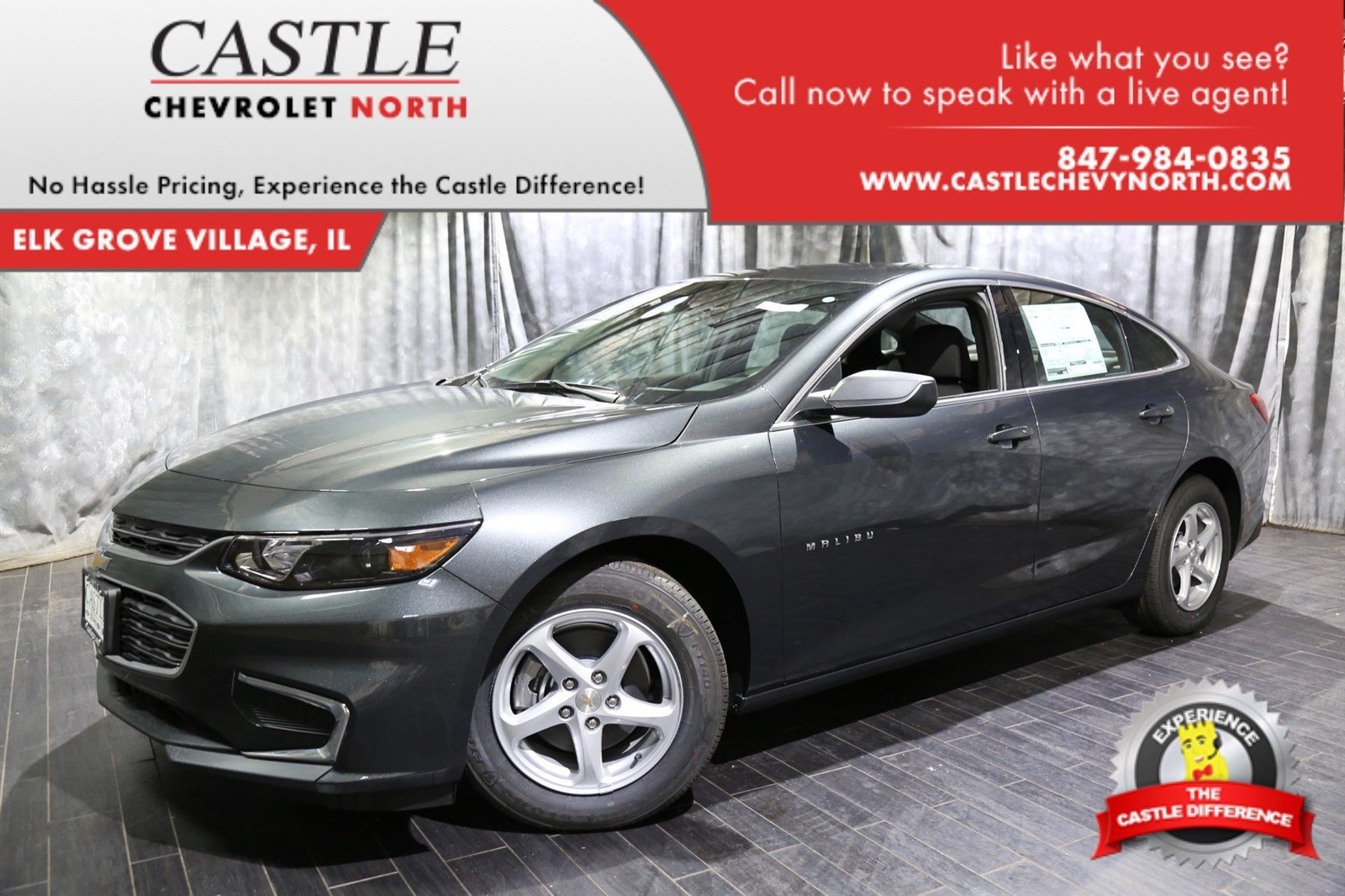 new 2018 chevrolet malibu ls 4dr car in villa park 63491 castle