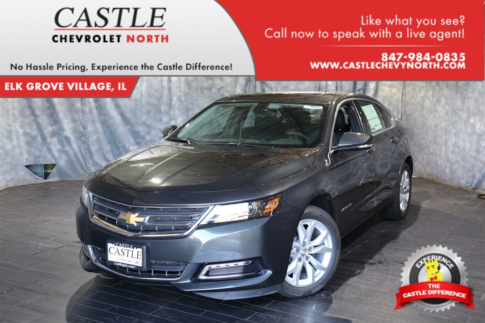new 2018 chevrolet impala 1lt 4dr car in villa park 63585 castle